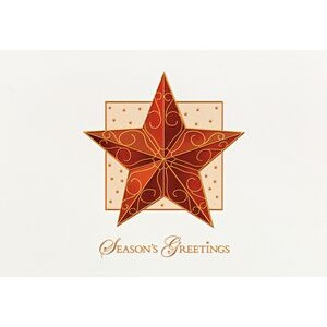 Raised Relief Ornamental Star Holiday Greeting Card (5